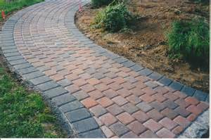 beautiful tumble brick pavers walkway with interestings color