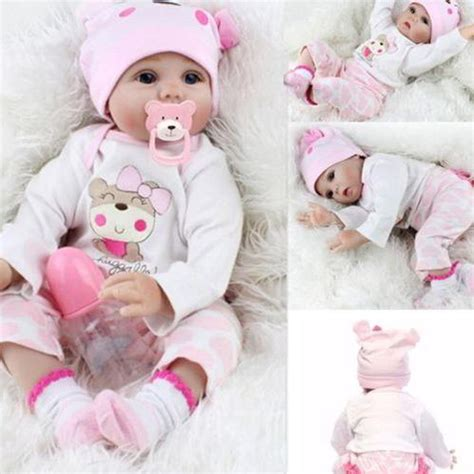 Handmade Dolls For Babies - 22 quot lifelike newborn silicone vinyl reborn gift baby doll