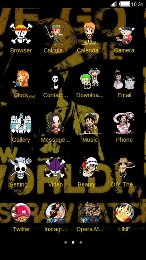 one piece themes for iphone 4 download one piece theme for your android phone clauncher