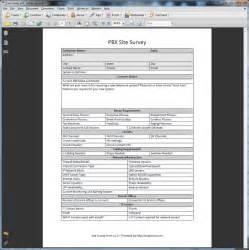 Site Survey Template by Using A Pbx Site Survey 888voip