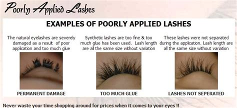 exles of poorly applied lashes i found from the