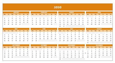full year calendar  excel template