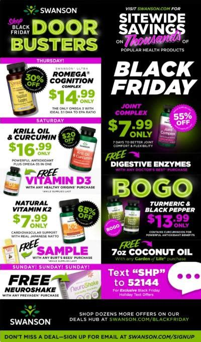 vitamin shoppe black friday 2018 swanson black friday 2018 ad deals sales blackfriday