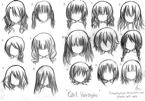 anime hairstyles ideas manga hairstyles girl inasyasyasya deviantart hairstyles
