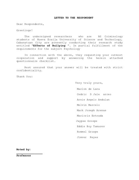 Sle Letter In Conducting Research Sle Letter To Request Permission To Conduct Research Permission Letter To Visit Pany