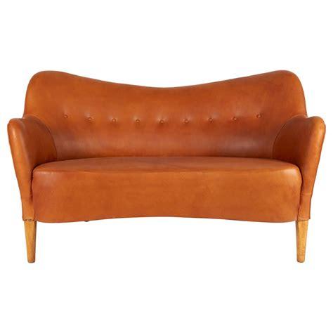 sofa cognac nanna ditzel quot all 233 sofa quot in cognac leather at 1stdibs