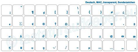 Tastatur Aufkleber Transparent by Tastaturaufkleber Sonderzeichen F 252 R Mactastatur Mit