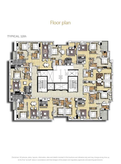 park central floor plan park central damac properties