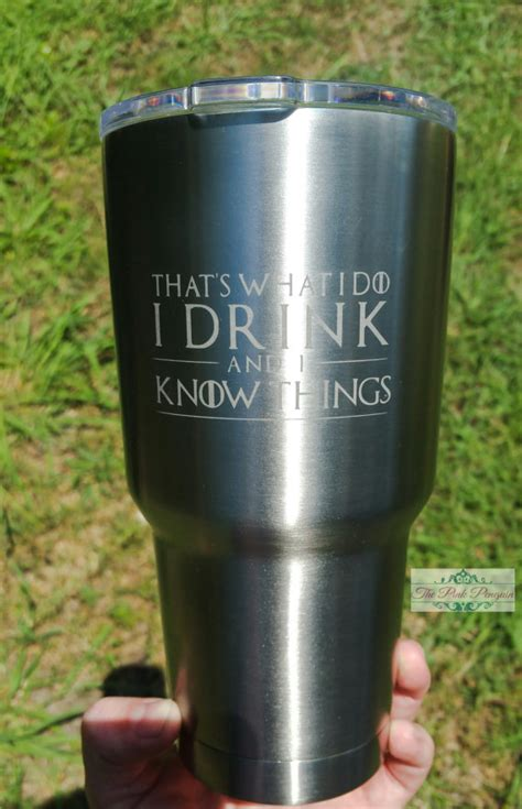 Design Your Own Wall Sticker game of thrones etched tumbler that s what i by