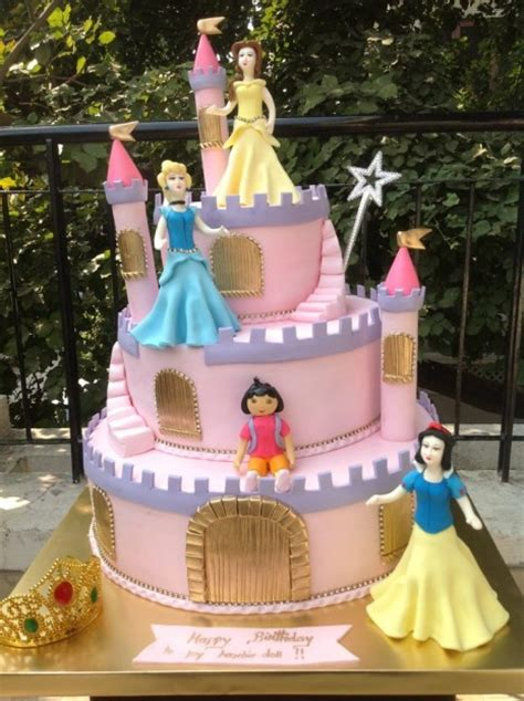 Princess Castle Cake with Dora   the sweet boutique delhi