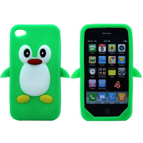 Soft Apple Iphone 4 4s 4g Murah Termurah Reseller Dropship 3d penguin soft silicone rubber cover for apple iphone 4g 4s ebay