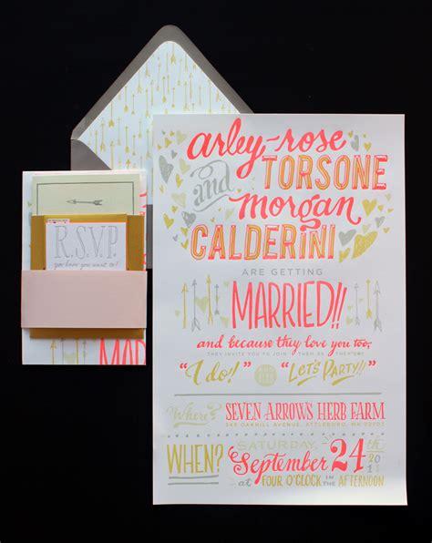 invitation design by morgan ladyfingers letterpress traditional wedding invitations