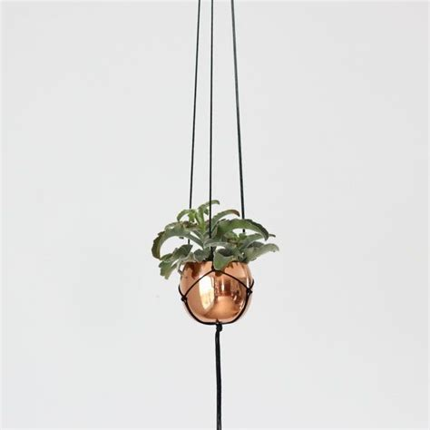 best small hanging plants small vintage copper cup hanging planter modern macrame