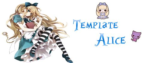 template alice in wonderland