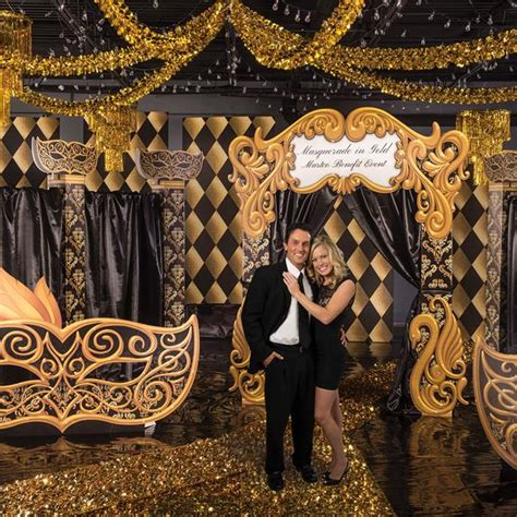 gold homecoming themes black and gold masquerade theme kit stumps