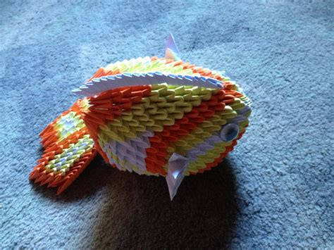 Origami 3d Fish - 3d origami fish by tilly001 on deviantart