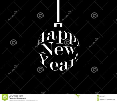 new year images black and white happy new year black and white stock vector