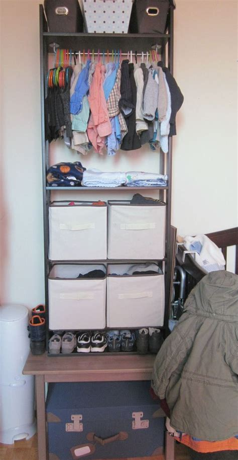 hometalk ikea hack from bookcase to custom closet