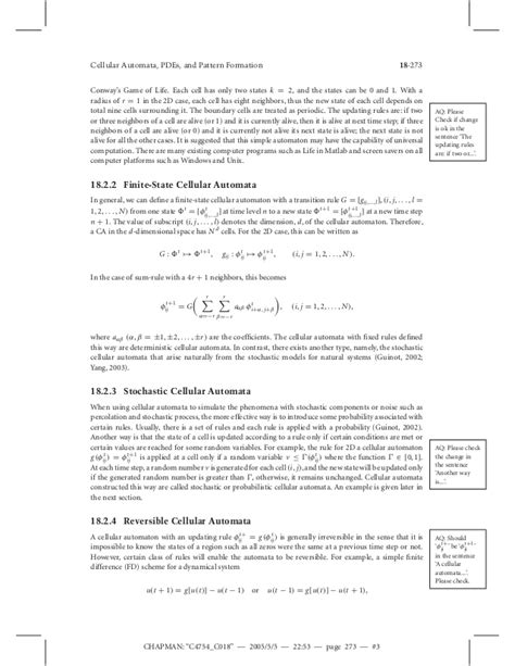 from pattern formation to material computation cellular automata pdes and pattern formation