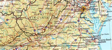 map or virginia virginia reference map