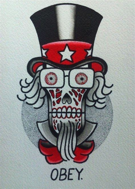 obey tattoo 30 best images about skull designs on