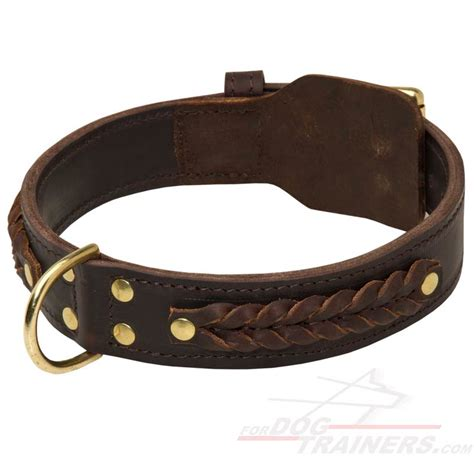 leather collar gorgeous wide leather collar c55 1073 braided leather collar 49 90
