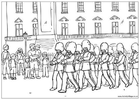coloring book uk changing guard colouring page