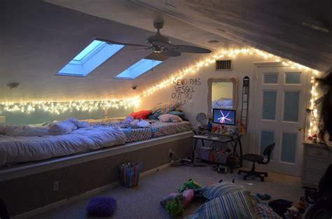 attic bedroom  fairylights bedroom fairy light ideas pinterest
