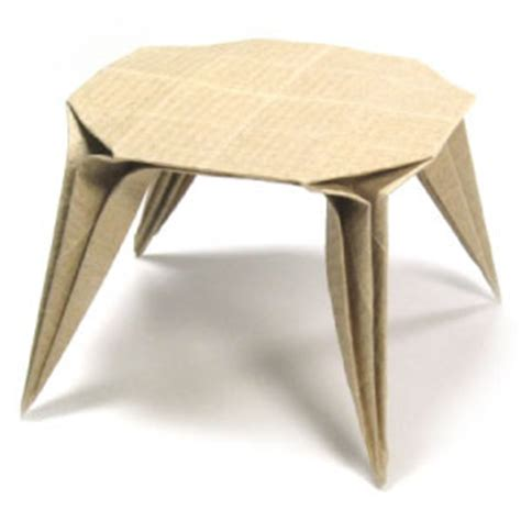 Origami Folding Table - how to make an origami dining table page 1