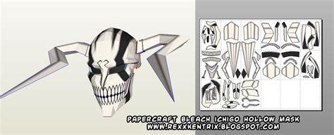 Hollow Mask Papercraft - ninjatoes papercraft weblog papercraft ichigo