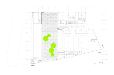 Large Floor Plans gallery of barcel 243 market library and sports hall nieto