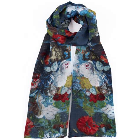 flower still jan huysum silk scarf national