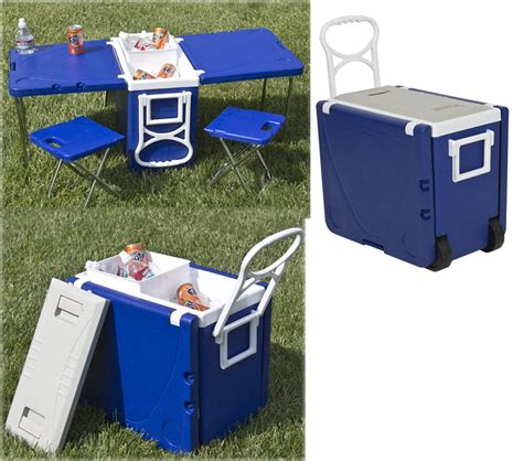 Cooler Picnic Table by Carry Your Picnic Plus A Picnic Table In This Rolling