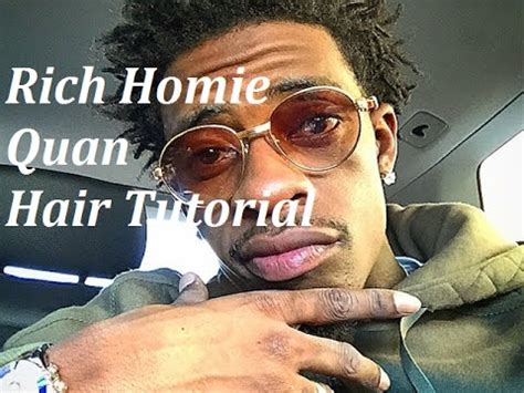 rich homie hair rich homie quan hair tutorial afro coil out youtube