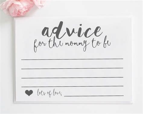 printable bridal shower advice cards mommy advice cards printable advice for the by