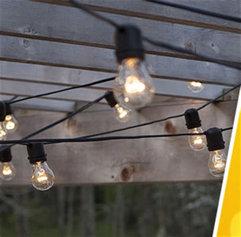 Commercial String Lights Outdoor 15 Socket Outdoor Led Light Set With 31 Black Cord
