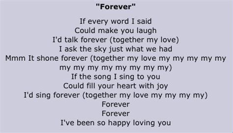 Forever The Lyrics Are So Cute Full House Pinterest Lyrics So Cute And The O Jays