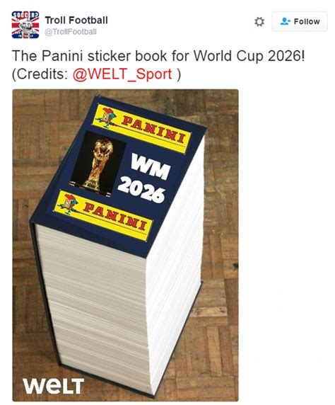 the story of the world cup 2018 books fifa to expand world cup to 48 teams and cost of panini
