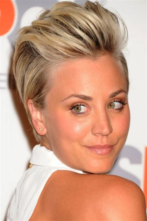 hairstyles for short hair quiff short hairstyles your a list inspiration kaley cuoco
