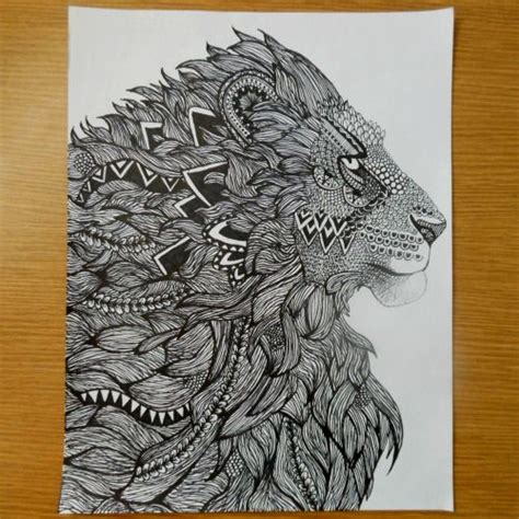zentangle lion pattern 17 best images about zentangles and doodles on pinterest