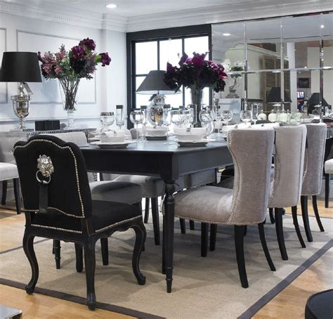 Dining Room Tables Black by Extending Black Dining Table 8 Chairs Special Offer
