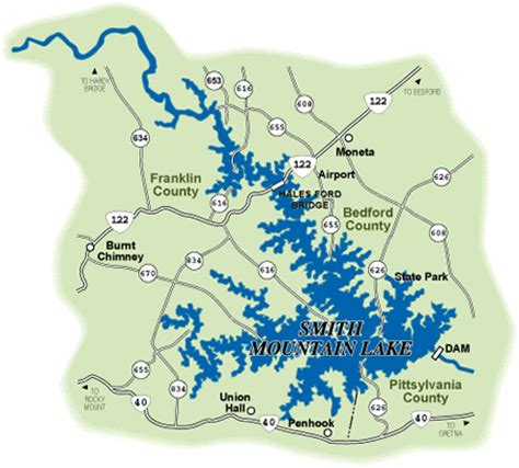 smith mountain lake map fish for free in virginia the claiborne house blue