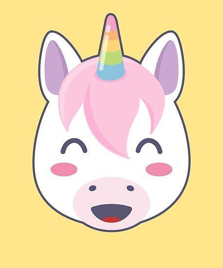 happy unicorn emoji  smiling eyes posters  zeno
