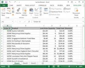 ms excel 2013 display the developer tab in the toolbar