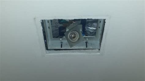 recessed light exhaust fan square 8 quot x 8 quot recessed hallway light upgrade