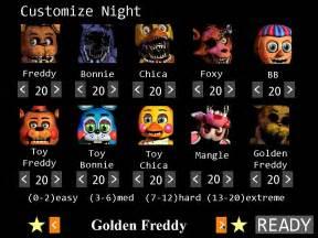 7th night 10 20 golden freddy mode complete fivenightsatfreddys