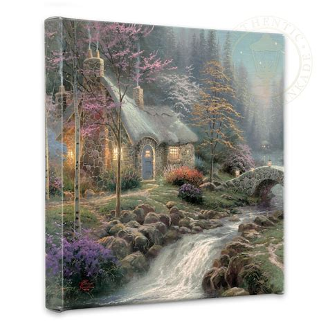 kinkade twilight cottage twilight cottage 14 quot x 14 quot gallery wrapped canvas kinkade galleries of new york new