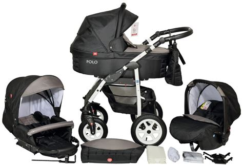 Setelan Bestbaby 3in1 Ivory new baby pushchair 3in1 travel system with car seat polo modern line bello babies