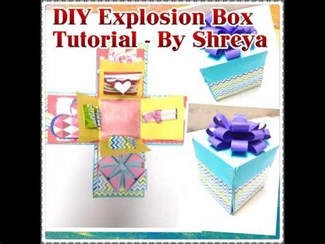 explosion box tutorial in english diy explosion box tutorial by shreya my crafts and diy