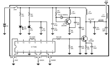 fm transmitter receiver circuit diagram 27mhz transmitter receiver radio pcbs and